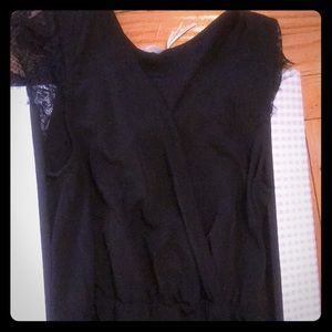 Black romper from urban outfitters SZ S nwt
